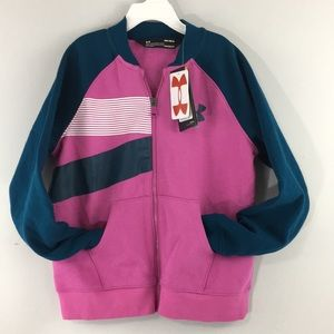 Under Armour Girls Jacket Youth Med Pink & Blue